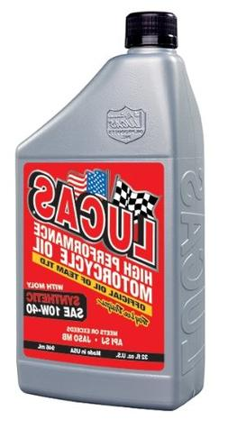 Lucas Oil 10777 Synthetic 10W-40 Motor Oil with Moly - 1 Qua