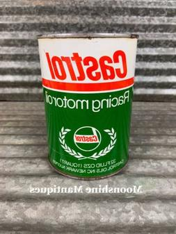 1950's CASTROL RACING 1 qt Motor Oil Can - Gas & Oil