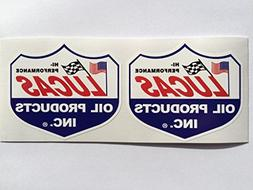 2 Lucas Oil Products Die Cut Decals by SBD DECALS