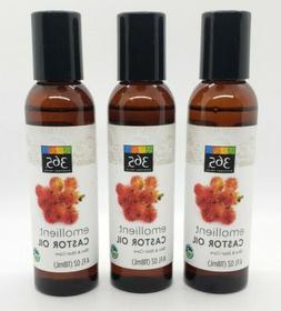 3 Pack - 365 Everyday Value, Emollient Castor Oil, 4 fl oz