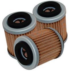 Caltric 3-PACK Oil Filter Fits YAMAHA BIG BEAR 400 YFM400 YF