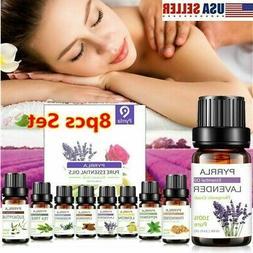 8PCS Set Essential Oil Set 100% Pure Natural Aroma Therapeut