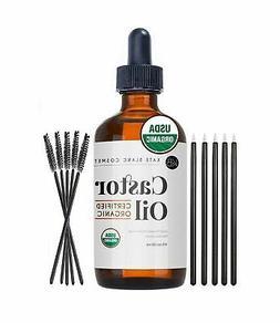 Castor Oil , USDA Certified Organic, 100% Pure, Cold Pressed