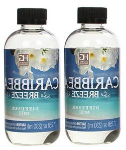 Hosley Set of 2 Premium Caribbean Breeze Reed Diffuser Refil