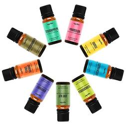 Natrogix Bliss Aromatherapy Top 9 Essential Oils Set, 100% P