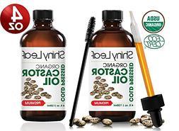 Organic Castor Oil For Hair - Growth and Eyelashes, Hexane F