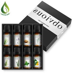 Aromatherapy 8 Essential Oil Set 100% Pure Therapeutic Gift