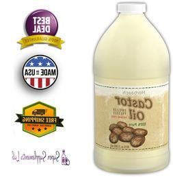 Horbaach Castor Oil 64 oz – 100% Pure Hexane Free, for Hai