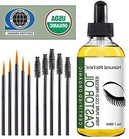Castor Oil Natural Organic Cold Pressed For Longer Eyelashes
