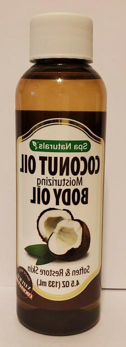 Spa Naturals Coconut Moisturizing Body Oil    4.5 oz. Bottle