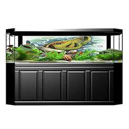 Youdeem Fish Tank Background Decor Watercolor Depiction of M