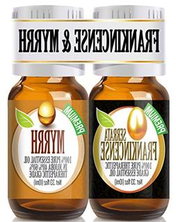 Frankincense and Myrrh Essential Oil Combo Pack 100% Pure, B