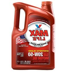 Valvoline High Mileage with MaxLife Technology 20W-50 Synthe
