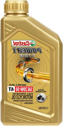 Castrol 06116 POWER1 V-TWIN 4T 20W-50 Synthetic Motorcycle O