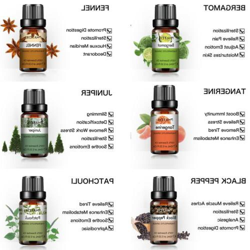 Aromatherapy Oils Natural Pure Essential Oil Fragrances 10ml US