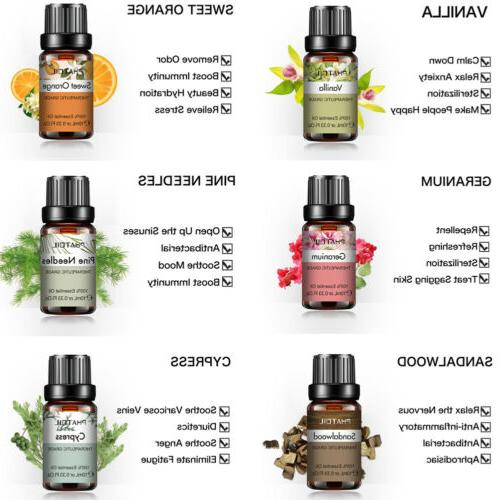 Aromatherapy Essential Oils Natural Pure Fragrances 10ml
