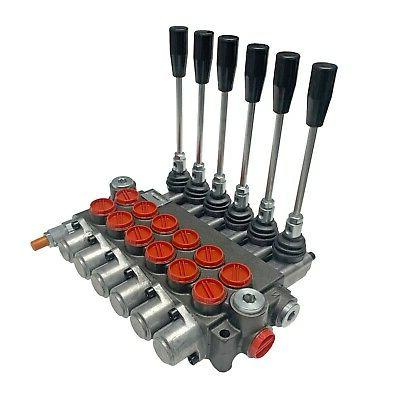 6 spool hydraulic control valve double acting