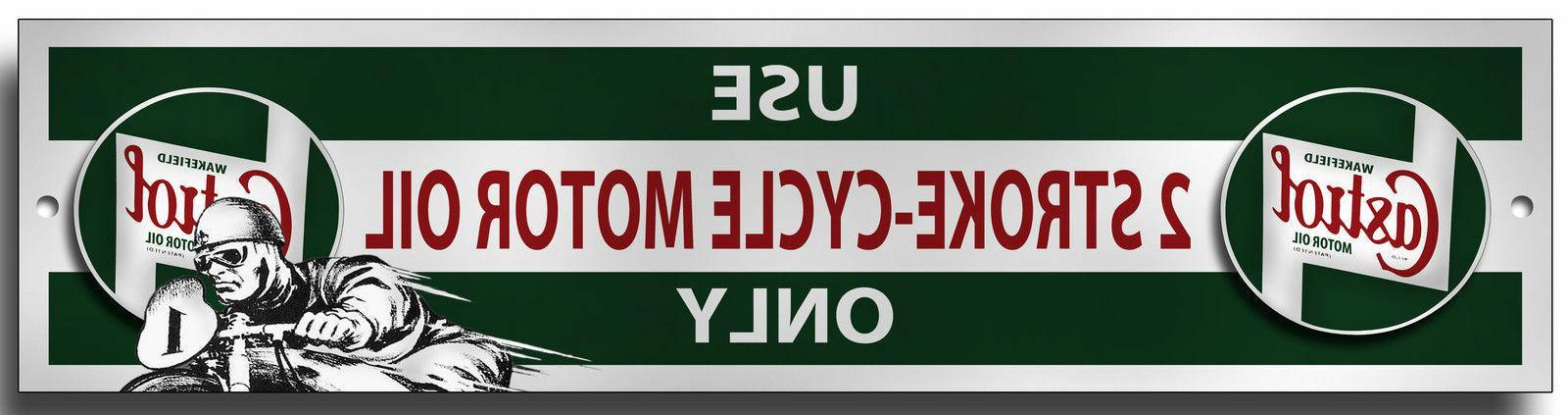 Castrol Oil 2 Stroke Door Sign. Wall Plaque. Great for Work
