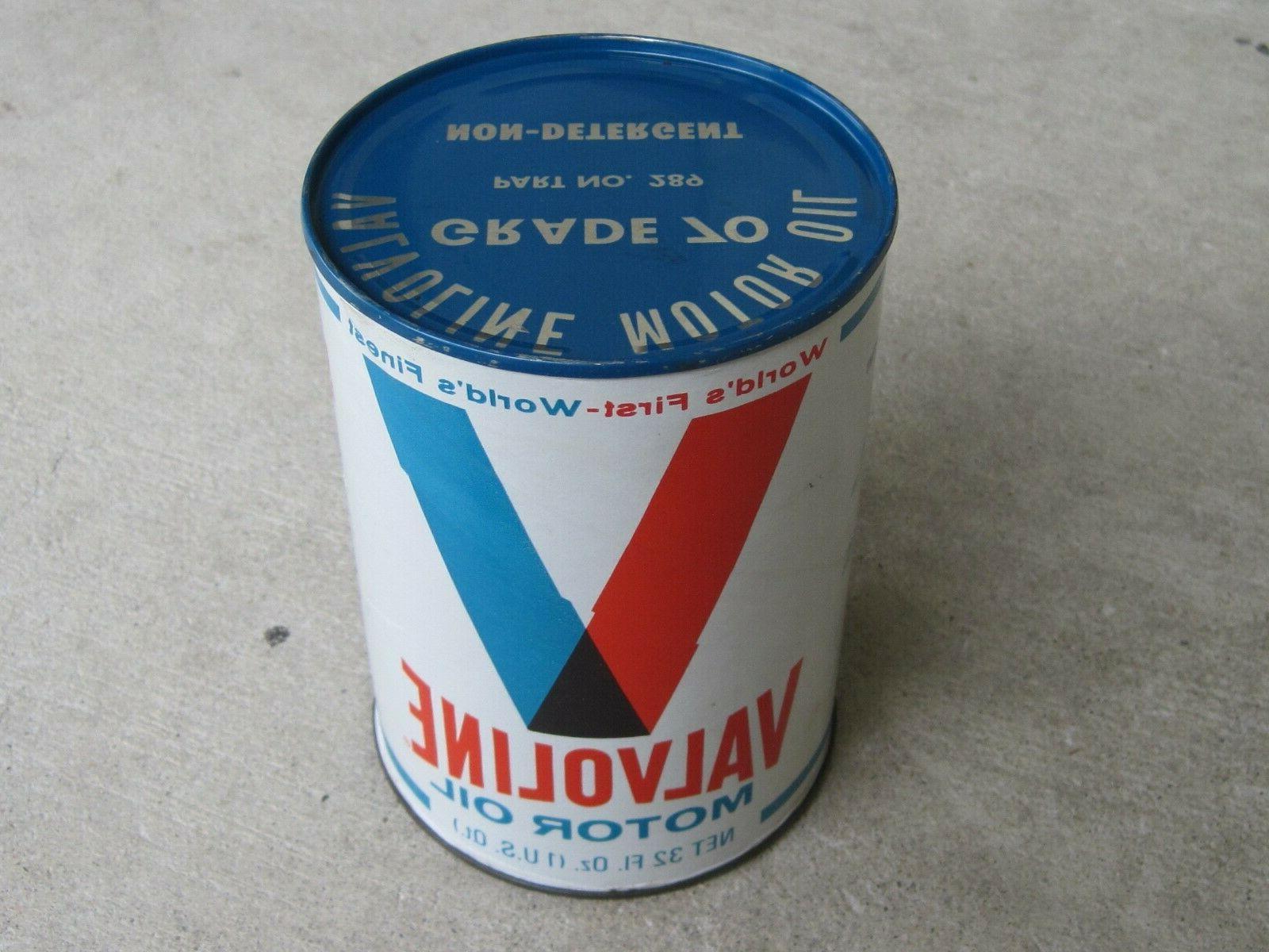 vintage motor oil can full 1 quart