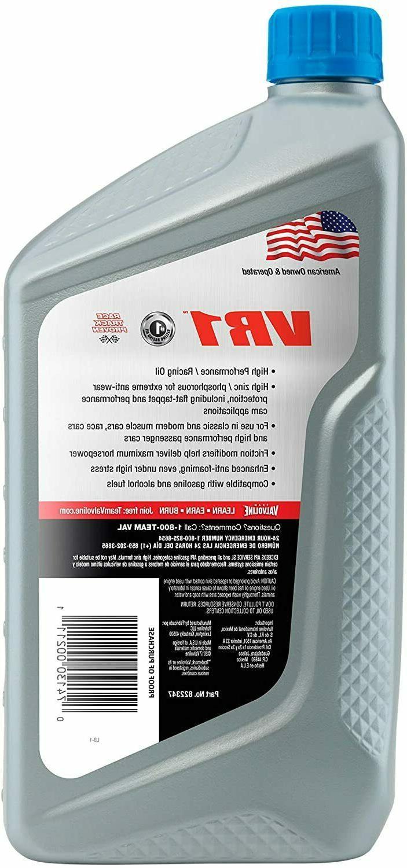 Valvoline VR1 SAE 20W-50 Oil 1 QT 6 -
