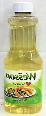 Wesson® Pure 100% Natural Canola Oil 24 fl. oz. Bottle