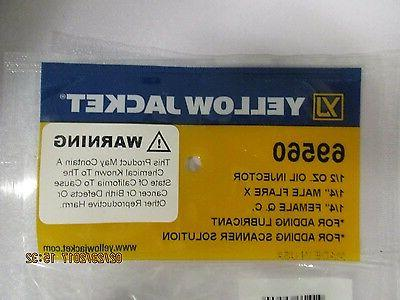"""Yellow 1/2 OIL INJECTOR 1/4"""" FLARE X 1/4"""" Q.C."""