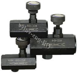 "Oil control valve flow hydraulic 1/4"" 3/8"" 1/2"" NPT Pump eng"