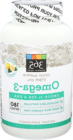 365 Everyday Value, Omega-3 Lemon, 180 ct