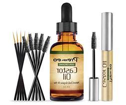 Pure Organic Castor Oil for Eyelashes, Eyebrows, Hair , Skin