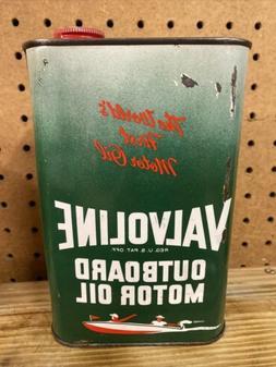 Valvoline Outboard Motor Oil Can 1 Quart- Full
