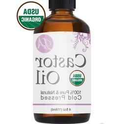 Premium Organic Castor Oil for Eyelashes, Eyebrows, Hair Gro