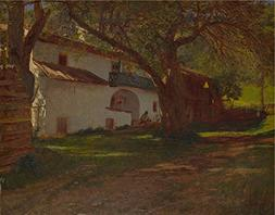 Oil Painting 'Dutch A White House Among Trees ' Printing On
