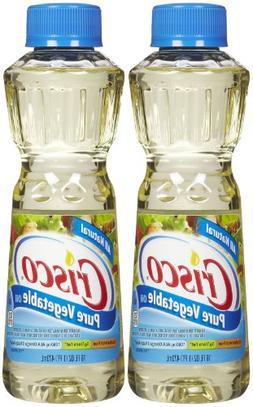 Crisco Pure Vegetable Oil, 16 oz, 2 pk