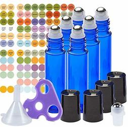 Ultimate Essential Oil Roller Bottles Set With Stainless Ste