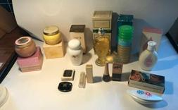 Vintage 10 Avon Products Bottles, Jars Lot, Bath Oil , Skin