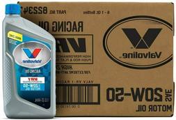 Valvoline VR1 Racing SAE 20W-50 Motor Oil 1 QT Case of 6 - F